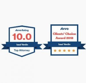 Verdin Law, AVVO Clients Choice Awards 2018