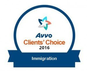VERDIN Immigration Law, AVVO Client's Choice 2016