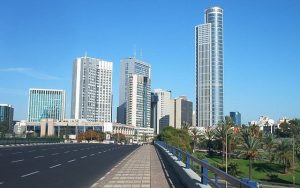 Ranat Gan towers near Tel Aviv Israel. Home to one of the world's major diamond exchanges, and many high-tech industries.