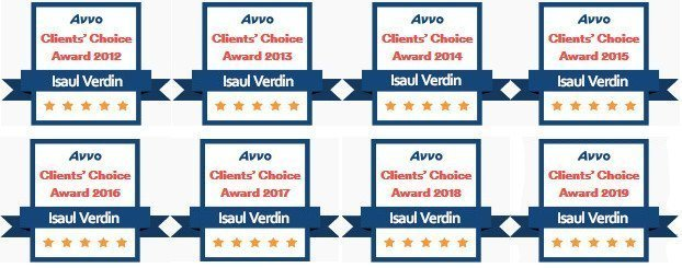Isaul Verdin AVVO Clients Choice Award 2012-2019