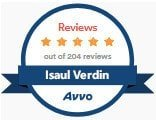 Isaul Verdin, Dallas Immigration Attorney, AVVO Reviews Jan 2020